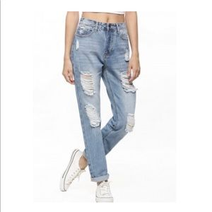 {Gap} sexy boyfriend fit coupe distressed Jeans